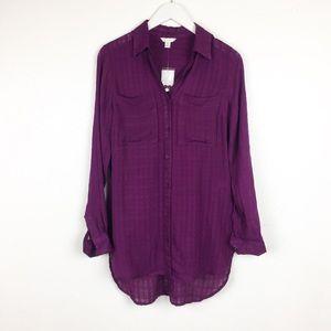 Cato Size XS Sheer Tunic Blouse